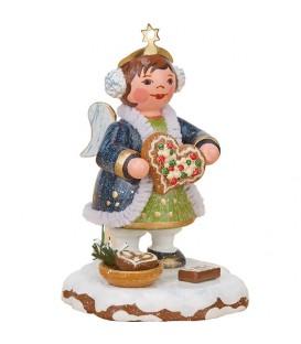 Village de Noël miniature, figurine ange et gateau