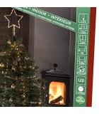 Cime sapin de Noël, voile guirlande avec étoile dorée, 274diodes LED
