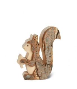 Petit écureuil en bois 7,5 cm