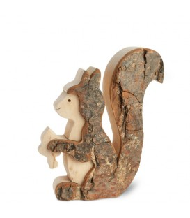 Ecureuil en bois 10 cm