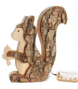 Grand écureuil en bois 15 cm