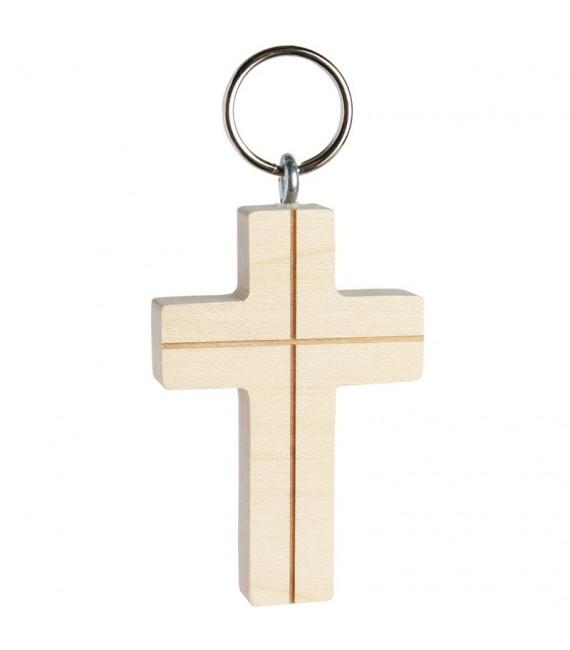 Porte-clés croix avec croix n° 2, 5 cm