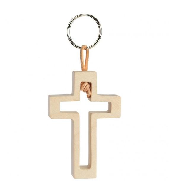 Porte-clef fcroix avec croix découpe n° 3, 5 cm
