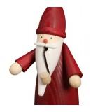 Bonhomme fumeur Père Noël manteau rouge