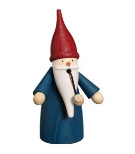 Bonhomme fumeur Père Noël manteau bleu