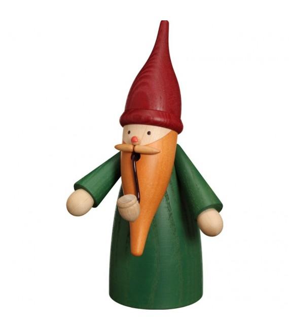 Bonhomme fumeur Père Noël manteau vert