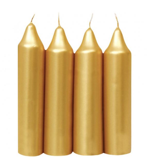 Bougies de l'Avent dorée 23 mm