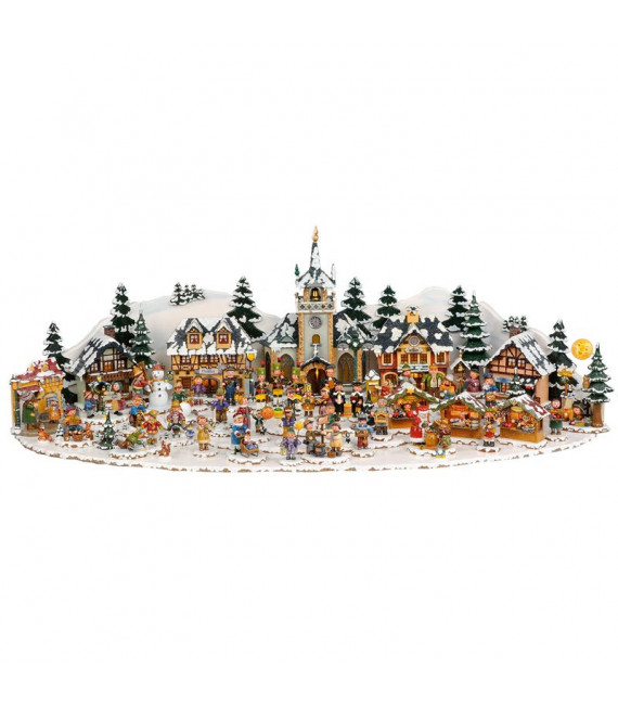 Grand plateau décor Winterkinder 48 x 31 cm