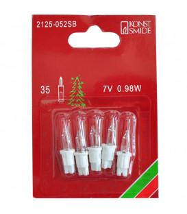 5 Ampoules de rechange 7 V, 0,98 W pour guirlande de Noël 35 lampes