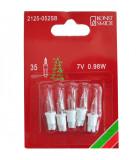 Ampoules de rechange 7 V, 0,98 W pour guirlande de Noël 35 lampes, Konstsmide 2125-052SB