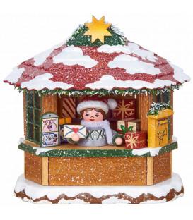 Village Noël miniature, chalet marché de Noël la Poste