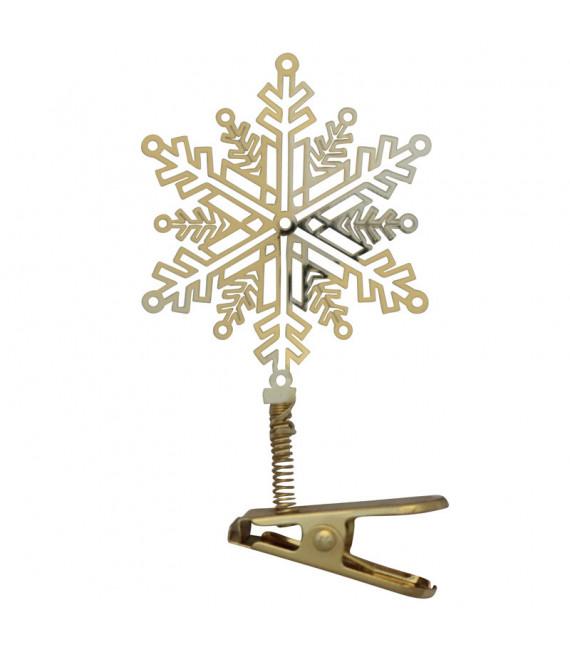 Flocon de neige à clipser sur le sapin de Noel