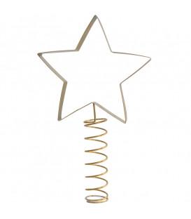 Cimier de sapin étoile doré