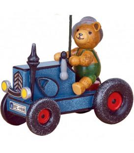 Déco sapin vintage, ourson et tracteur