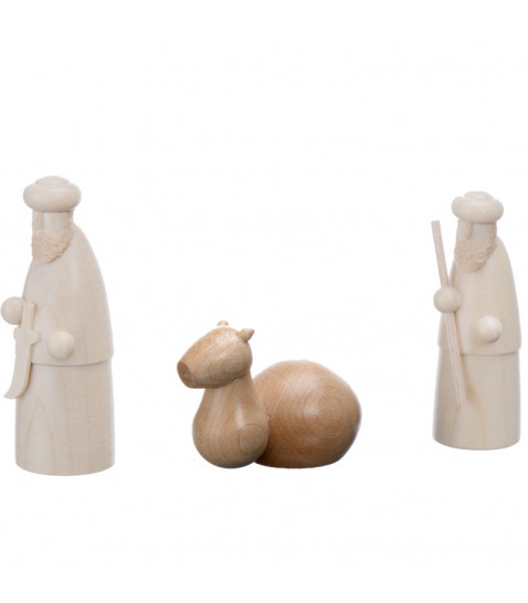4 x 10 cm avec photophore sainte famille Magnifique Cr/èche en bois sculpt/é marron