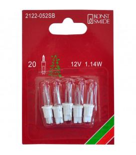 Ampoules de rechange 12V, 1,14W pour guirlande de Noël 20 lampes
