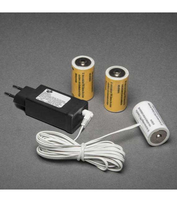 Transformateur adaptateur pour 3 piles 1,5 V LR14