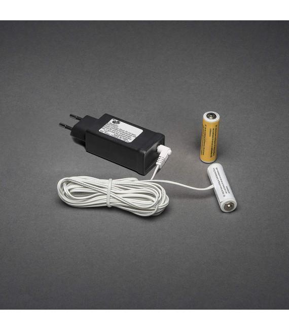 Adaptateur secteur pour piles 2 x 1,5 V AA