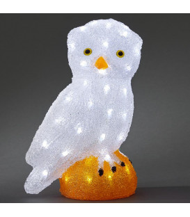 Chouette lumineuse Led acrylique, 36 cm