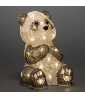 Panda lumineux Led 27 cm en acrylique, 40 diodes blanc chaud