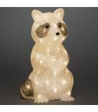 Raton laveur Led 34 cm en acrylique, 48 diodes blanc chaud