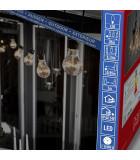 Guirlande lumineuse de terrasse 10 m extensible, 10 ampoules ambrées