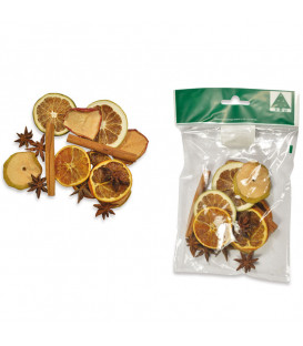 Pot pourri orange, pomme, cannelle, anis, 35 g