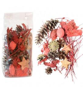 Pot pourri mélange pomme de pin, fleurs séchées, mousse, 100 g