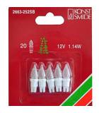 Ampoules givrées pour guirlande 12 V, 1,14W, 20 lampes, Konstsmide 2663-252SB
