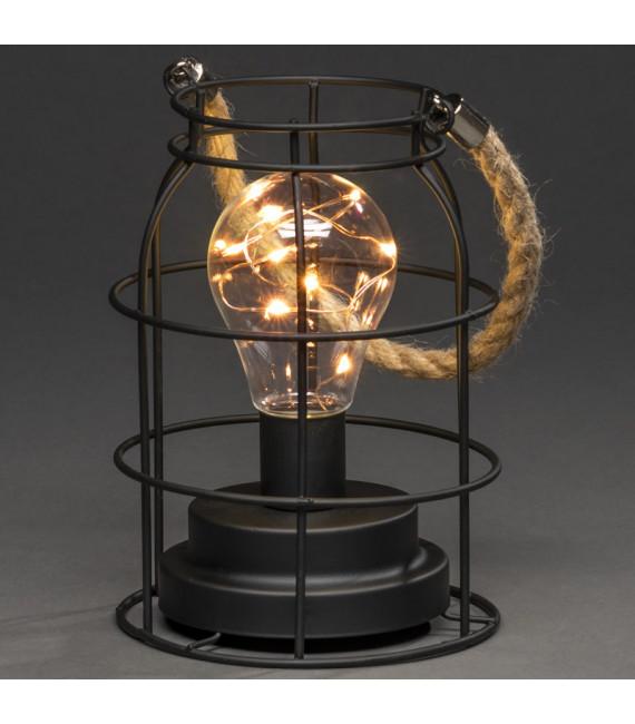 Lanterne lumineuse à Led en métal, ronde, 18 cm