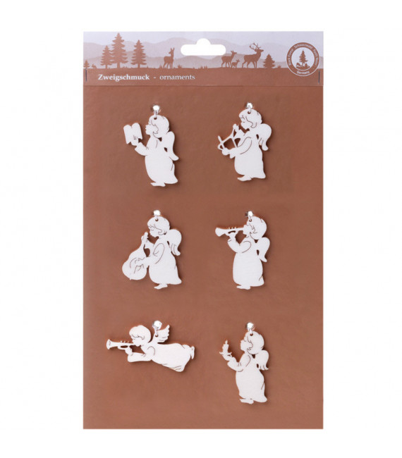 Décorations pour sapin 6 pendentifs : mini anges