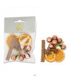 Mix Pot pourri oranges séchées, cannelle, anis et déco, 30g