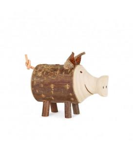 Petit cochon en bois, 3 cm