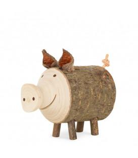 Cochon en bois, 4 cm