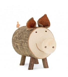 Cochon en bois, 5,5 cm