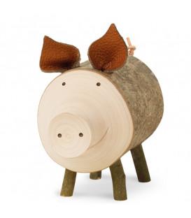 Cochon en bois, 7 cm