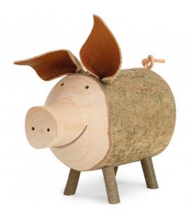 Gros cochon en bois, 9 cm