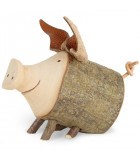cochon Trudie taille 4 assis