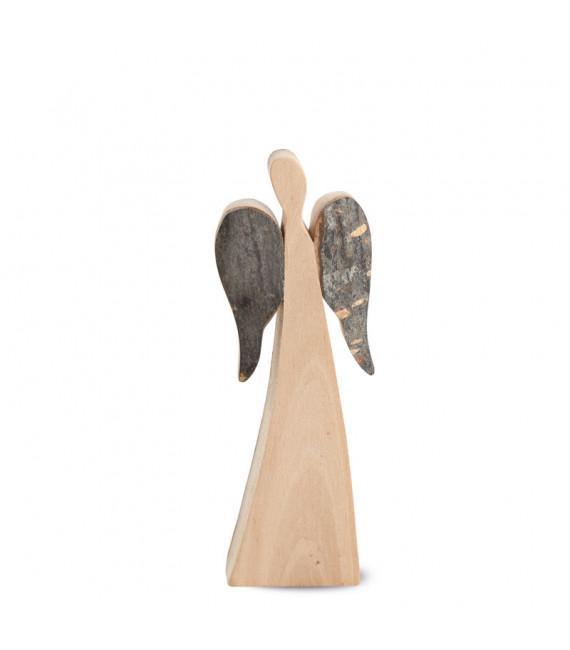 Ange de Noël en bois, double face 12 cm