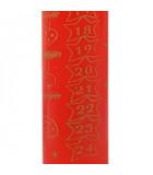 Bougie rouge de l'Avent graduée, 25 cm