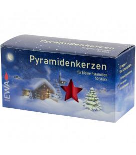 50 Bougies de Noël pour pyramide, pyramidenkerzen 14 mm