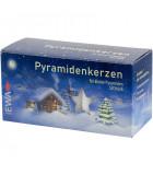 50 Bougies de Noël blanches pyramidenkerzen 14 mm