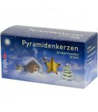 50 Bougies de Noël ocre pyramidenkerzen 14 mm