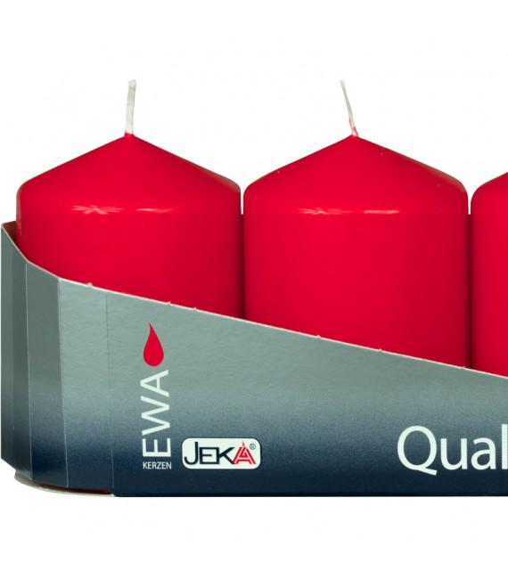 Bougies de l'Avent rouges 60 mm