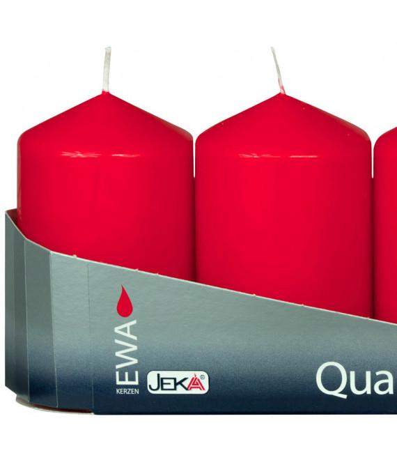 bougies rouges pour couronne de l'Avent 80 mm