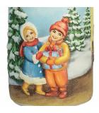 Bougie décorative de Noël, motif vintage