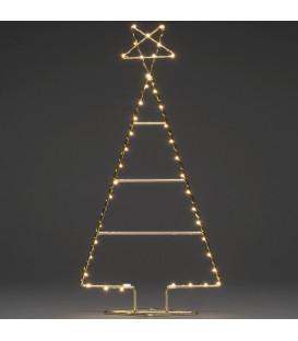 Sapin de Noël moderne doré avec étoile 60 cm