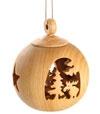 Boules de Noël en bois