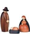 Santons en bois pour crèche de Noël