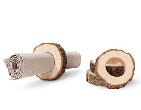Décorations en bois pour la table